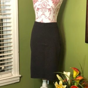 Dark gray bodycon skirt